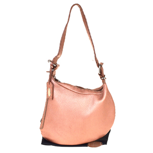 Fendi Selleria Leather Shoulder Bag Pink