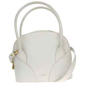 Loewe 2Way Leather Handbag White