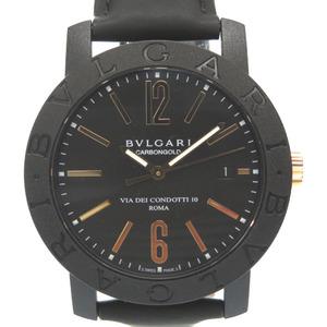 Bvlgari Carbon Gold Bvlgari BB40CL Automatic watch Black Pink Dial 0019BVLGARI Men
