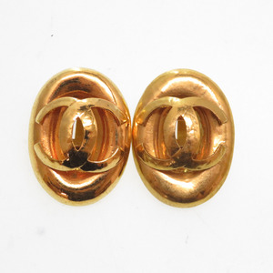 Chanel Vintage Gold Coco Mark Earring Accessory 0142 CHANEL Ladies