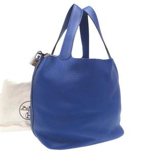 Hermes Picotan Lock GM Toryon Clemence Blue Electric Silver Hardware A Stamp (Made in 2017) Handbag Bag 0154 HERMES