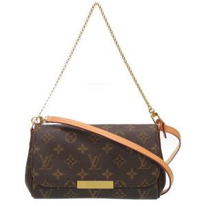 Louis Vuitton Monogram Favorite PM 2WAY Shoulder Bag Chain Leather Strap M40717 LV 0136LOUIS VUITTON