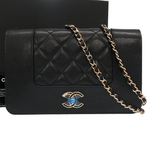 Chanel chain wallet matrasse 26 series shoulder bag A80972 leather black 0149CHANEL
