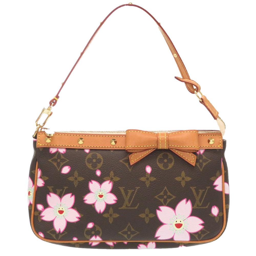 Louis Vuitton Monogram Cherry Blossom Accessoire M92006 Accessory Pouch LV 0108LOUIS VUITTON