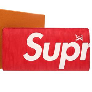 Louis Vuitton x Supreme Epi Portofeuille Blaza Red M67719