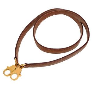 Hermes Kushbel Gold metal fittings Shoulder strap Kelly 〇X stamped brown 0245 HERMES