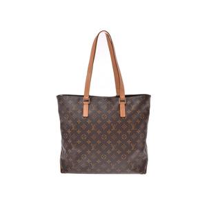 Louis Vuitton Monogram Hippo Mezzo Brown M51151 Men Women Genuine Leather Tote B Rank LOUIS VUITTON Used Ginzo