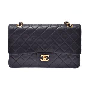 Chanel Matrasse Chain Shoulder Bag Black GP Hardware Ladies Lambskin B Rank CHANEL Gala Used Ginzo