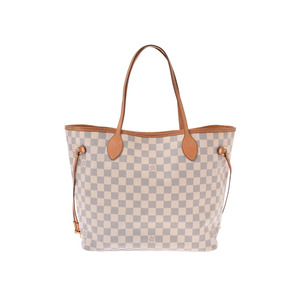 Louis Vuitton Azure Neverfull MM Brown N51107 Old Ladies Genuine Leather Tote Bag B Rank LOUIS VUITTON Used Ginkura