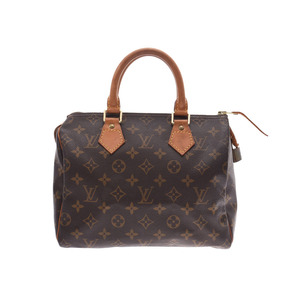 Louis Vuitton Monogram Speedy 25 Brown M41528 Ladies Genuine Leather Handbag B Rank LOUIS VUITTON Used Ginzo