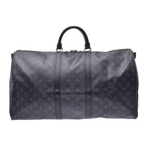 ルイ・ヴィトン(Louis Vuitton) ルイヴィトン エクリプス キーポルバンドリエール55 M40605 メンズ 本革 2WAYボストンバッグ 新同 美品 LOUIS VUITTON ストラップ付 中古 銀蔵