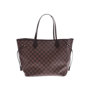 Louis Vuitton Damier Neverfull MM Old Brown N51105 Ladies Genuine Leather Tote A Rank LOUIS VUITTON Used Ginzo