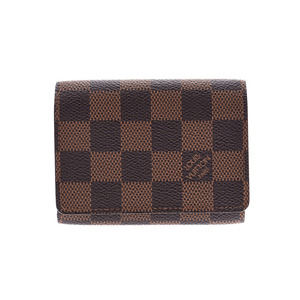 Louis Vuitton Damier Anvelop cult devisit brown N62920 Men's Ladies Genuine leather Card case Business card holder B rank LOUIS VUITTON Used silver warehouse