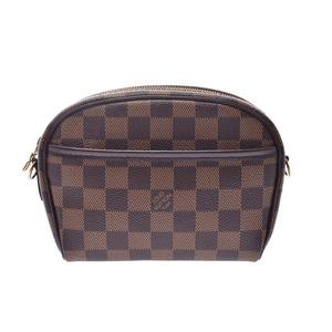 Louis Vuitton Damier Pochette Ipanema Brown N51296 Men's Ladies Genuine Leather Shoulder Bag New Beauty Goods LOUIS VUITTON Used Ginzo