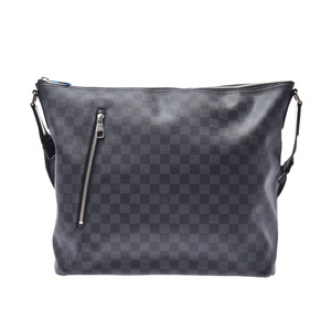 Louis Vuitton Graphite Mick GM Black / Grey N41105 Men's Genuine Leather Shoulder Bag New Beauty LOUIS VUITTON Used Ginzo