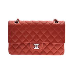 シャネル(Chanel) シャネル チェーンショルダーバッグ 二重蓋 朱色 SV金具 レディース ラムスキン Bランク CHANEL 中古 銀蔵