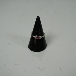 〈日本国内のみ販売〉リング K18WG ピンクサファイヤ 0.31ct ダイヤ0.06ct ダイヤモンド 【中古】レディース