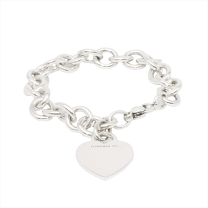 Tiffany Heart Tag Sterling Silver 925 Charm Bracelet Silver