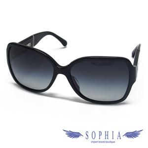 Chanel Sunglasses Coco Mark Plastic Frame Black 20190829