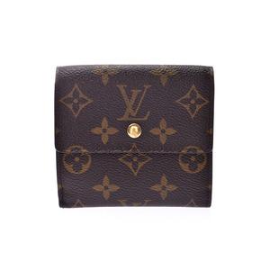 Louis Vuitton Monogram Portfoy Elise Brown M61654 Men's Women's Leather W Hook Purse B Rank LOUIS VUITTON Used Ginkura
