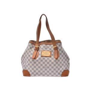 Louis Vuitton Azur Hampstead MM White N51206 Women's Genuine Leather Tote B Rank LOUIS VUITTON