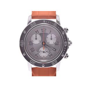 HERMES Clipper Diver Chronograph Steel Rubber Quartz Unisex Watch CP2.410