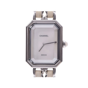 CHANEL Premiere Size L MOP Dial Stainless Steel Quartz Ladies Watch H1639