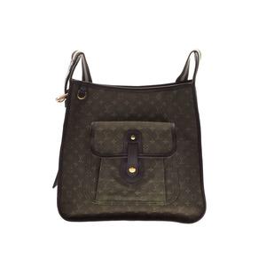 Louis Vuitton Monogram Mini Buzzard Mary Kate Khaki M92322 Women's Canvas / Genuine Leather Shoulder Bag AB Rank LOUIS VUITTON Used Ginzo