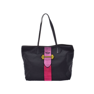 Prada Tote Bag Black / Pink 1BG065 Ladies Nylon Veloa Unused Beautiful Goods PRADA Sky Gala Used Ginzo