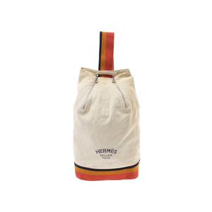 Hermes Cavalier Beige Series Men Women Canvas One Shoulder Bag B Rank HERMES Used Ginzo