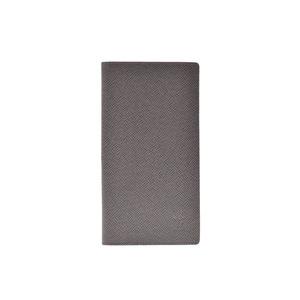Louis Vuitton Taiga Portofeuil Long Glacier M32644 Men's genuine leather wallet AB rank LOUIS VUITTON used silver warehouse