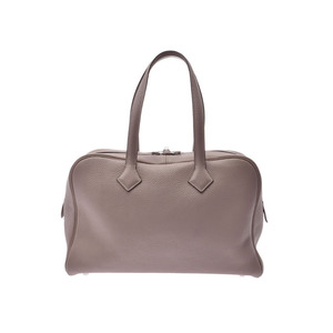 Hermes Victoria 2 35 Truthier Gray T Stamp Women's Men's Torillon Clemence Bag A Rank Good Condition HERMES Box Used Ginzo