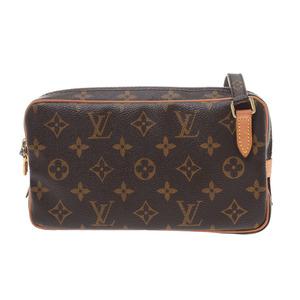 Louis Vuitton Monogram Marly Band Lier Brown M51828 Ladies Men Genuine Leather Shoulder Bag B Rank LOUIS VUITTON Used Ginzo
