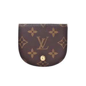Louis Vuitton Monogram Porto Monegze Brown M61970 Men's Women's Leather Coin Purse A Rank LOUIS VUITTON