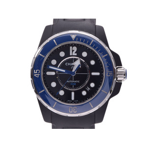 CHANEL J12 Marine 38 Ceramic Rubber Automatic Mens Watch H2559