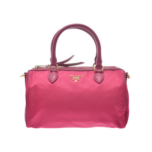 Prada 2WAY Mini Boston Pink 1BB797 Ladies Nylon Leather Unused Beauty Goods PRADA With Strap Gala Used Ginzo