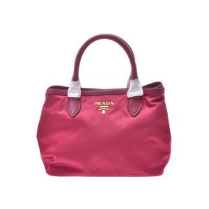 Prada 2WAY Handbag Pink 1BA172 Ladies Nylon Leather Unused Beauty Goods PRADA With Strap Gala Used Ginzo