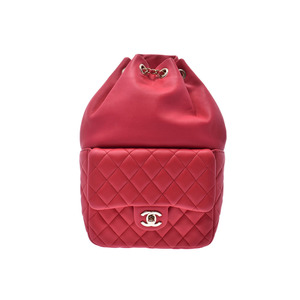 CHANEL Matelasse backpack pink G hardware lady's lambskin rucksack