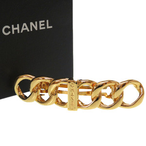 Like new Chanel vintage barrette gold hair accessories 0055 CHANEL