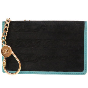 Chanel Harako Coin Case with Key Chain Black 0226CHANEL