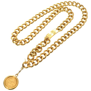 Chanel Vintage Gold Chain Coco Mark Belt Accessory 0215 CHANEL