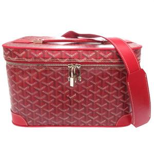Goyal PVC Red Jewelry Box Makeup Handbag 0059 GOYARD