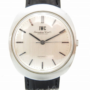 IWC Fish Crown One Piece Old Inter Automatic Wrist Watch Silver 0172 International Company Men's