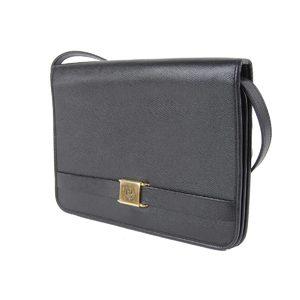 Christian Dior Logo Hardware 2 Way Shoulder Bag Clutch Leather Black 20190917