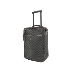 LOEWE Anagram Total Pattern Carry Bag PVC Black Brown Travel Luggage Suitcase Used 20190924