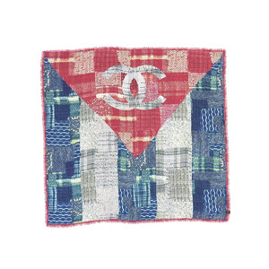 CHANEL Chanel cashmere 100% Ladies Coco Mark Scarf Multicolor Used 20190924