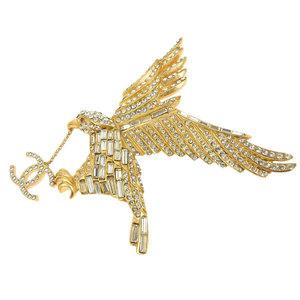 CHANEL Chanel Coco Mark Eagle Motif Brooch Vintage 01P