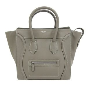 Celine CELINE Mini Luggage Tote Bag Drum calfskin Suri Grege * BG
