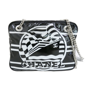 Chanel CHANEL chain shoulder bag black white 26 series * BG