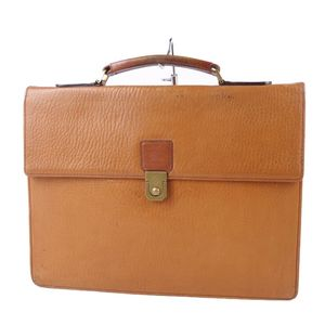 Vintage Burberry Burberrys Men's Leather Calf Briefcase Business Bag Brown 鞄